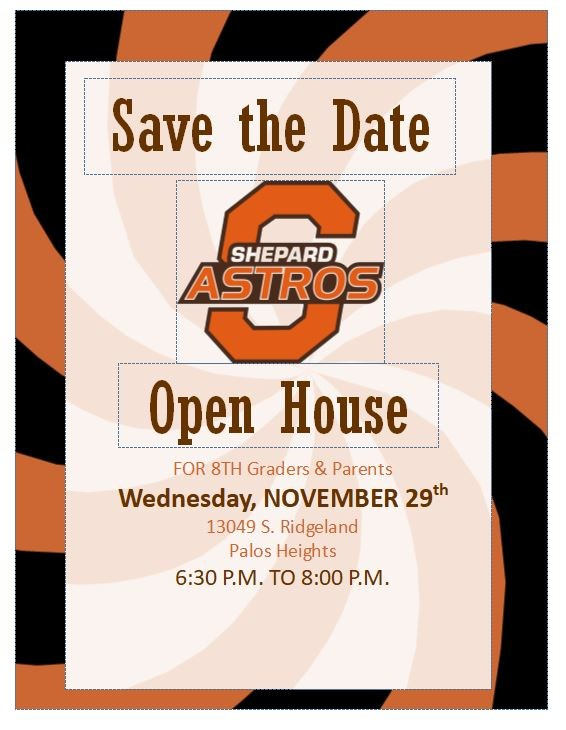 Open House is Wednesday, November 29 from 6:30 - 8:00 P.M. Thumbnail Image