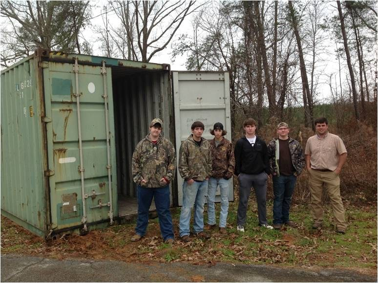 BCCA students transforming shipping container into vocational classroom. Featured Photo
