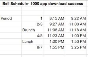 Fiesta Friday Bell Schedule