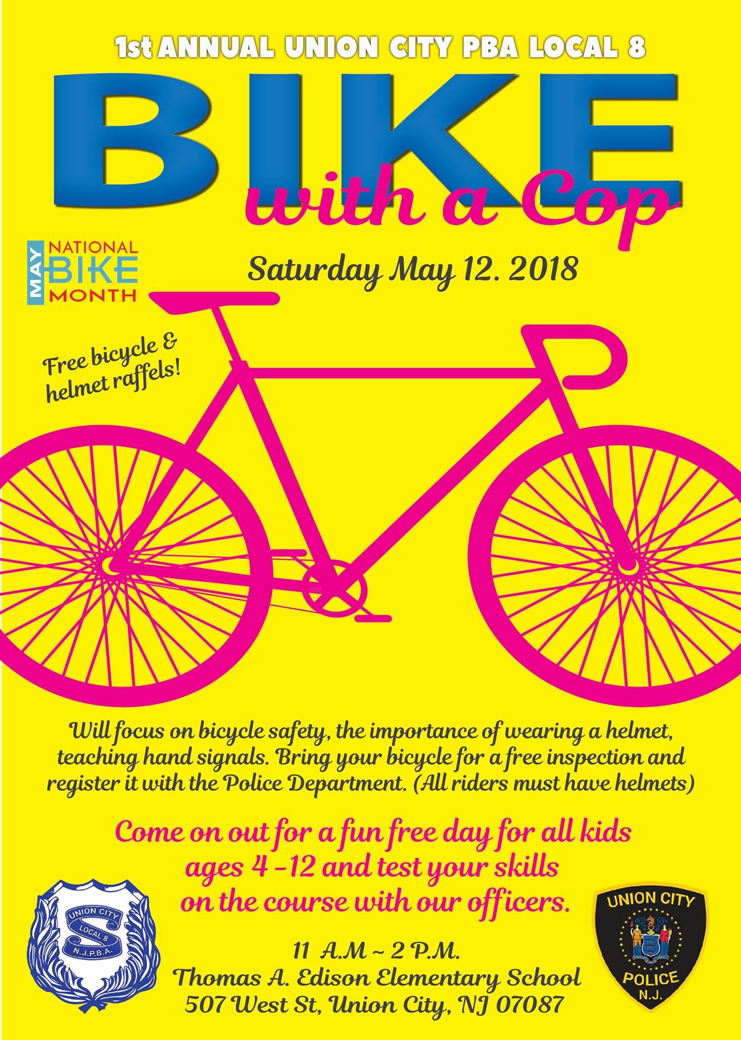 1st Annual Bike with a Cop Flyer