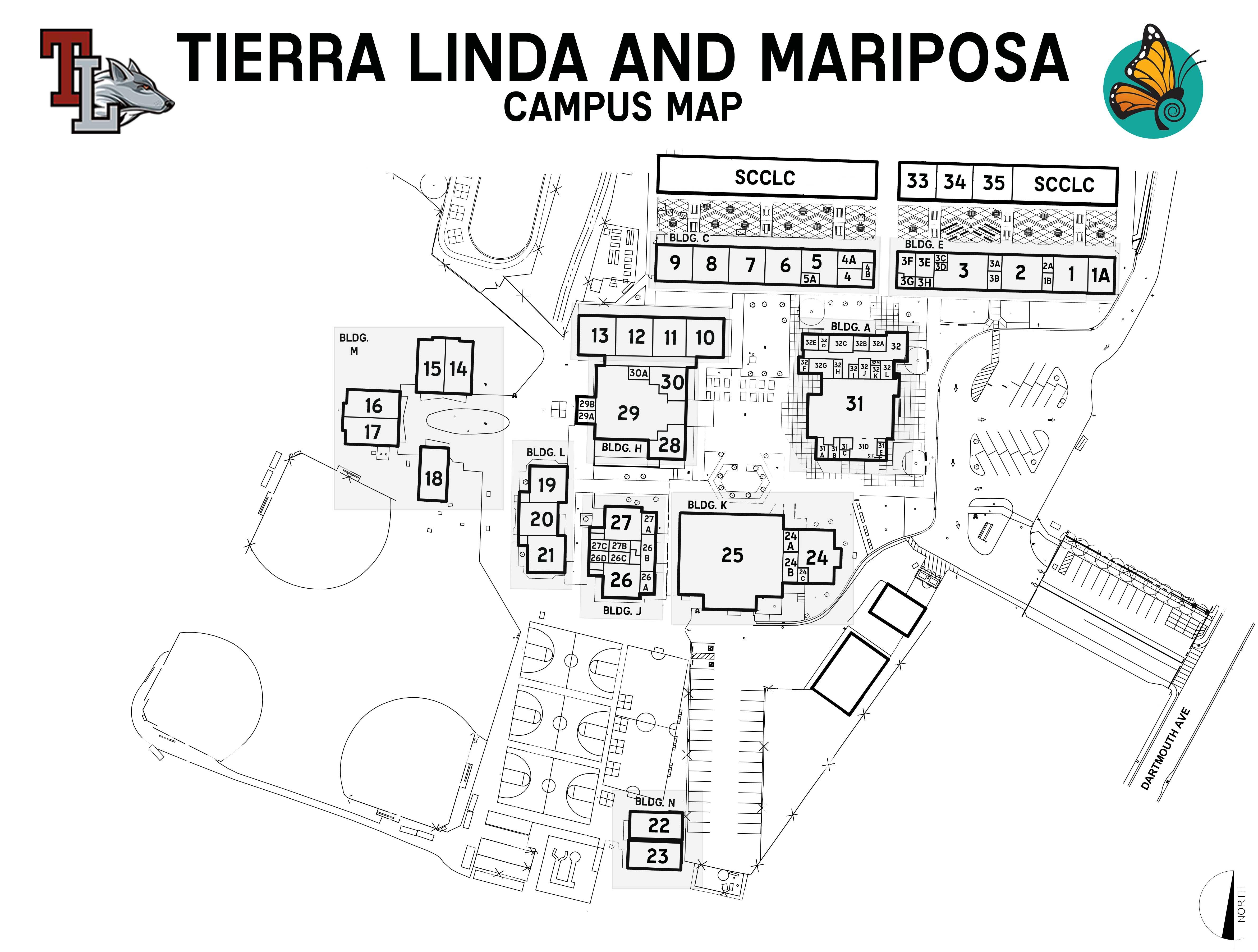 San Mateo High School Campus Map.Tierra Linda Middle School