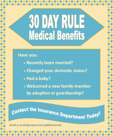 30 Day Insurance Rule Graphic
