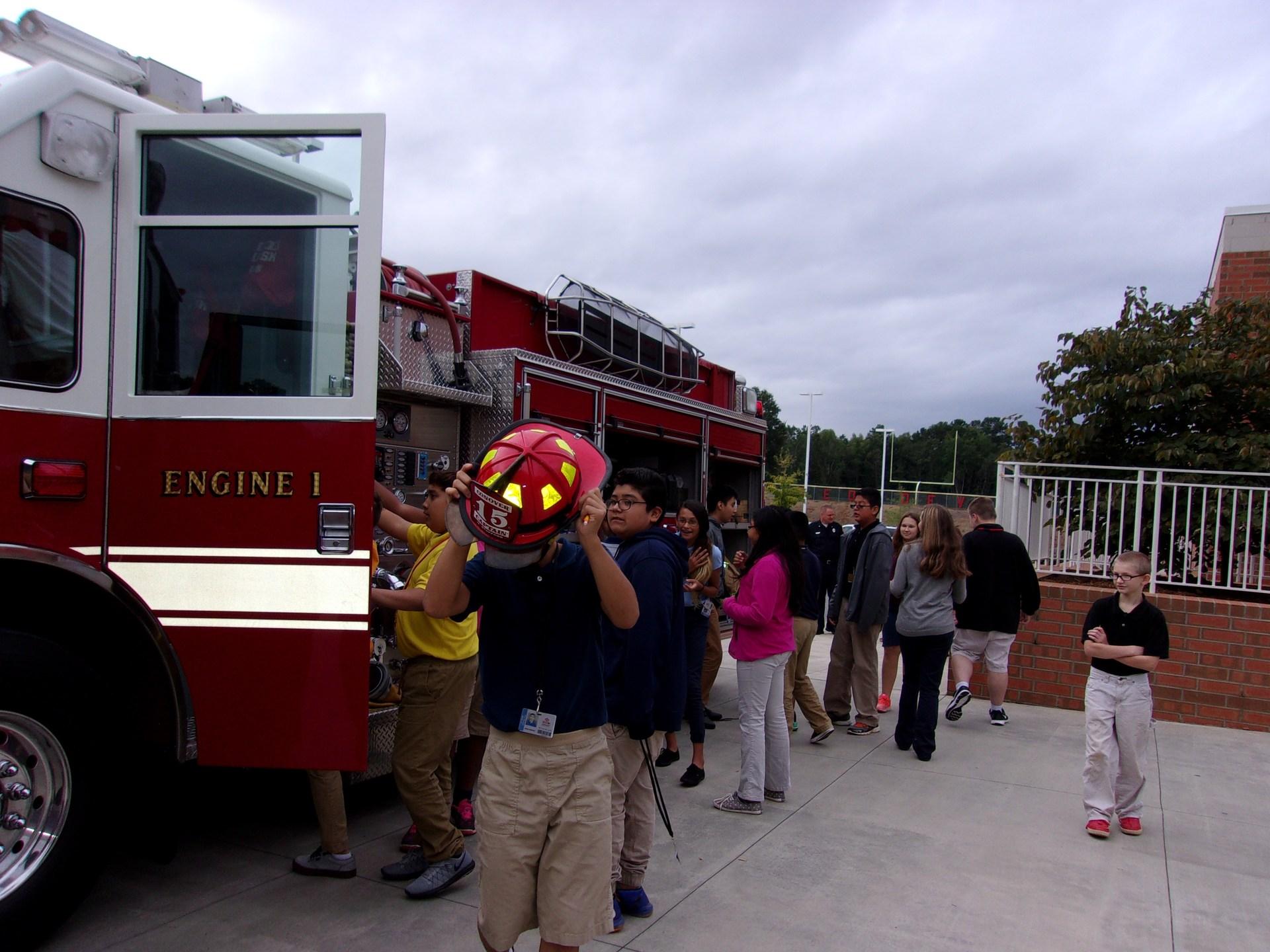 Local Fireman visit