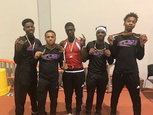 Photo of the Baker High Boys Track Team At LSU Meet