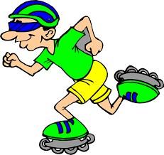 Rollerskater clip art