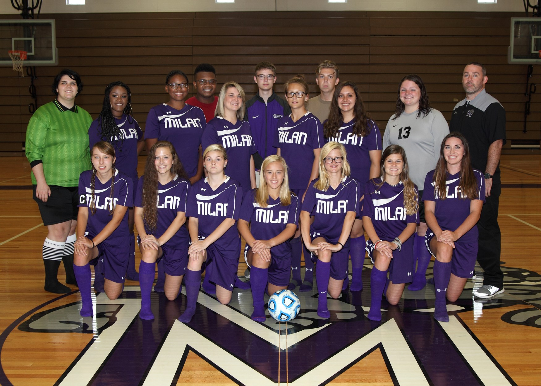 Girl Soccer Team Photo