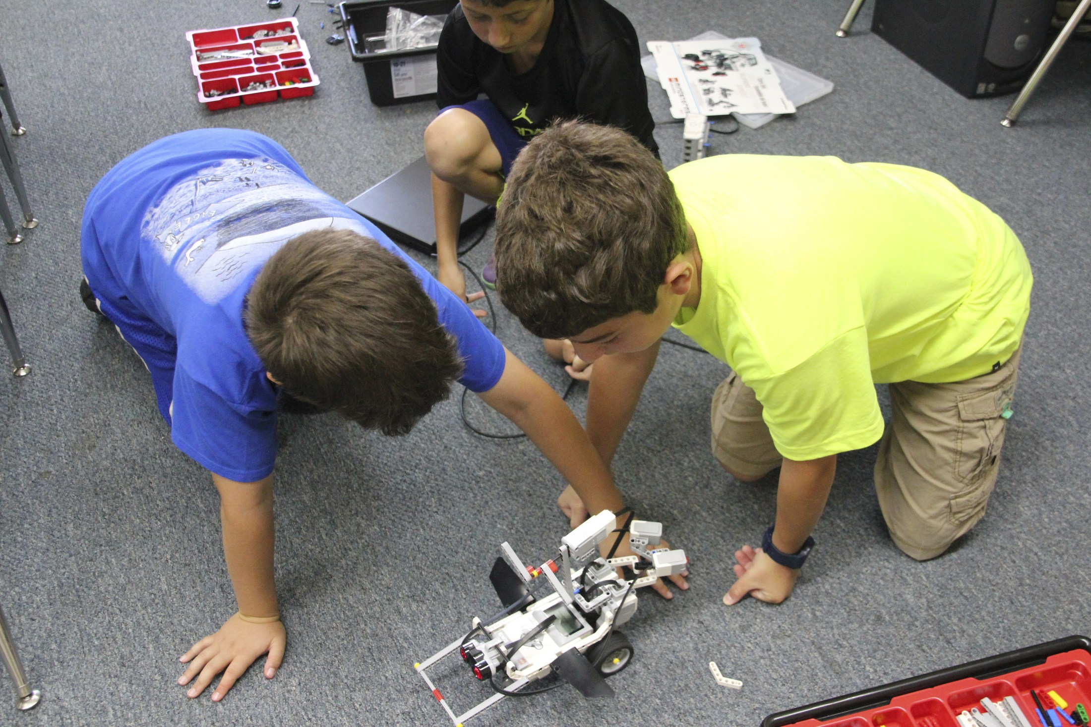 Summer school robots.