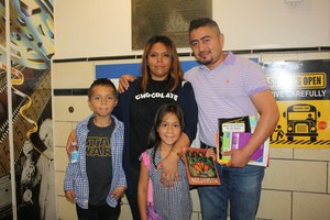 Happy Family attends back to school night
