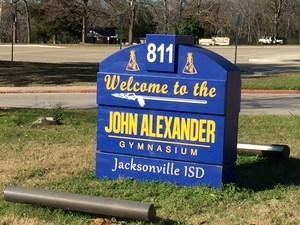 Sign at John Alexander Gym