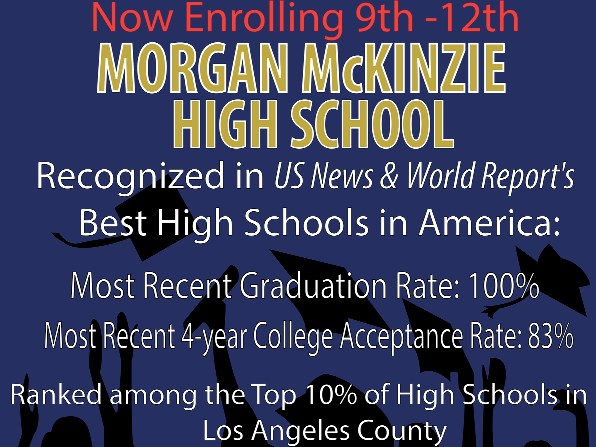 Morgan McKinzie is now enrolling 9th-12th grade, Please apply online or in the office. Thumbnail Image