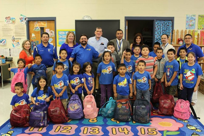 Backpack Giveaway by Board Members and Hidalgo Mayor Thumbnail Image