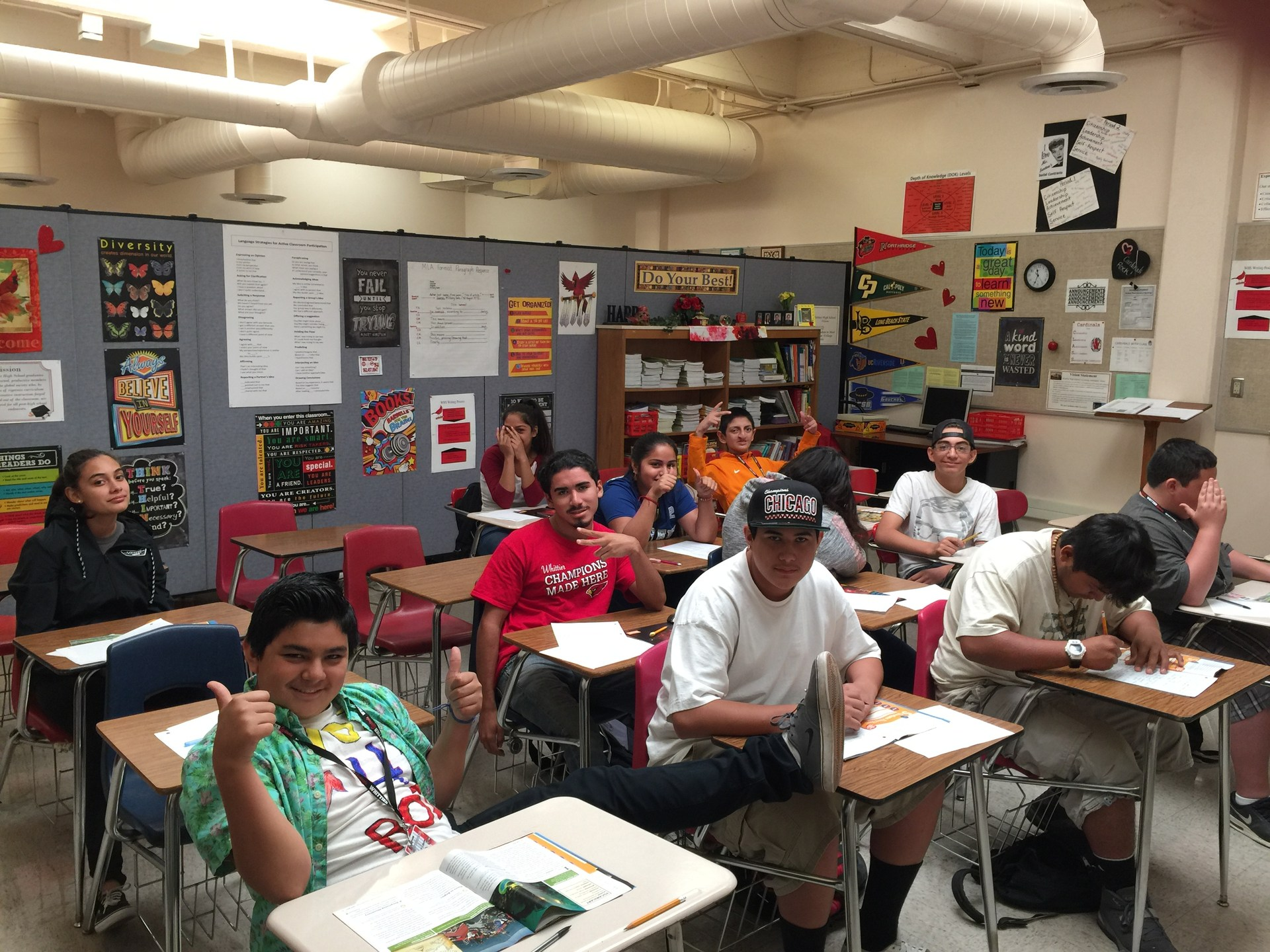 Ms. Sexton's 4th period reading class
