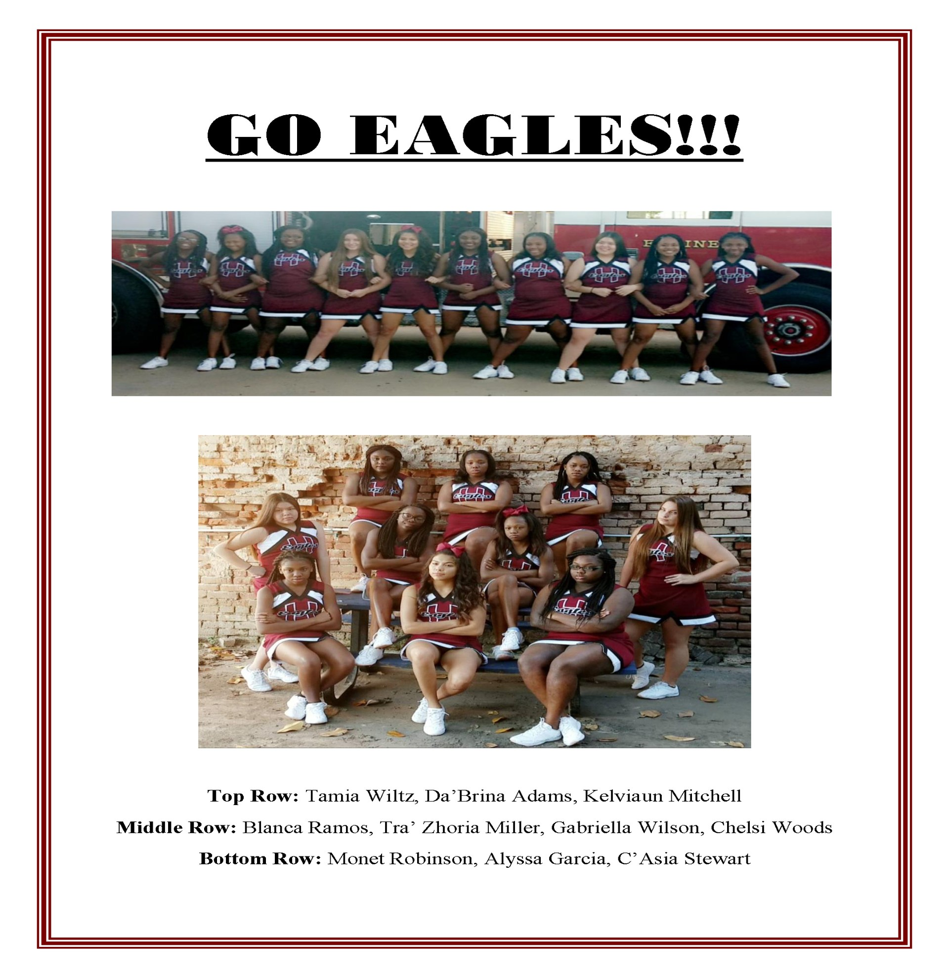 Hearne 2017-18 Cheerleaders