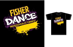 Dance uniform logo and T-shirt design
