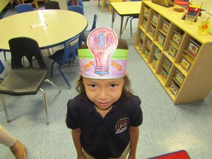 100th day hat on child
