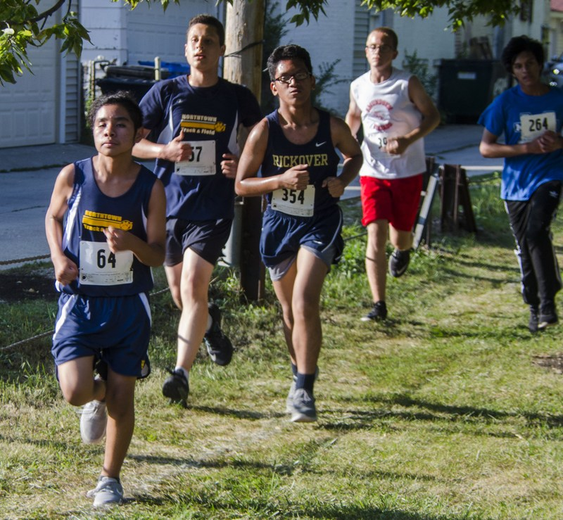 Freshman Cadet Justin Segovia running at Mather 2 Mile Invitational