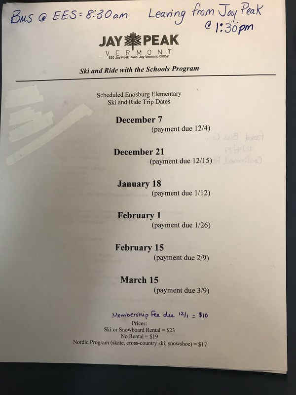 Jay Peak Ski Schedule