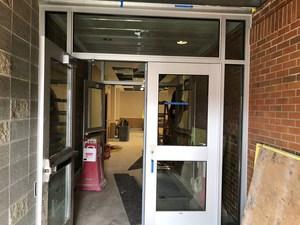 Doorway to new classrooms.