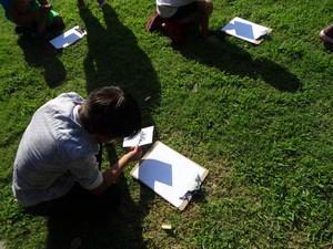 Student created pinhole camera.