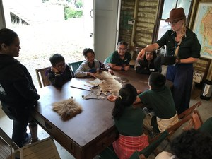 students feel furs to determine the animal they came from