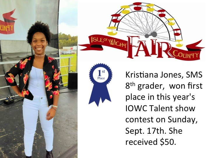 Kristiana wins first place in county fair talent show