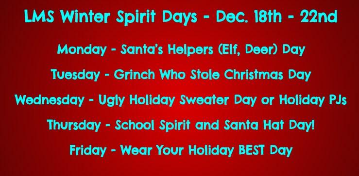 LMS Winter Spirit Week Thumbnail Image