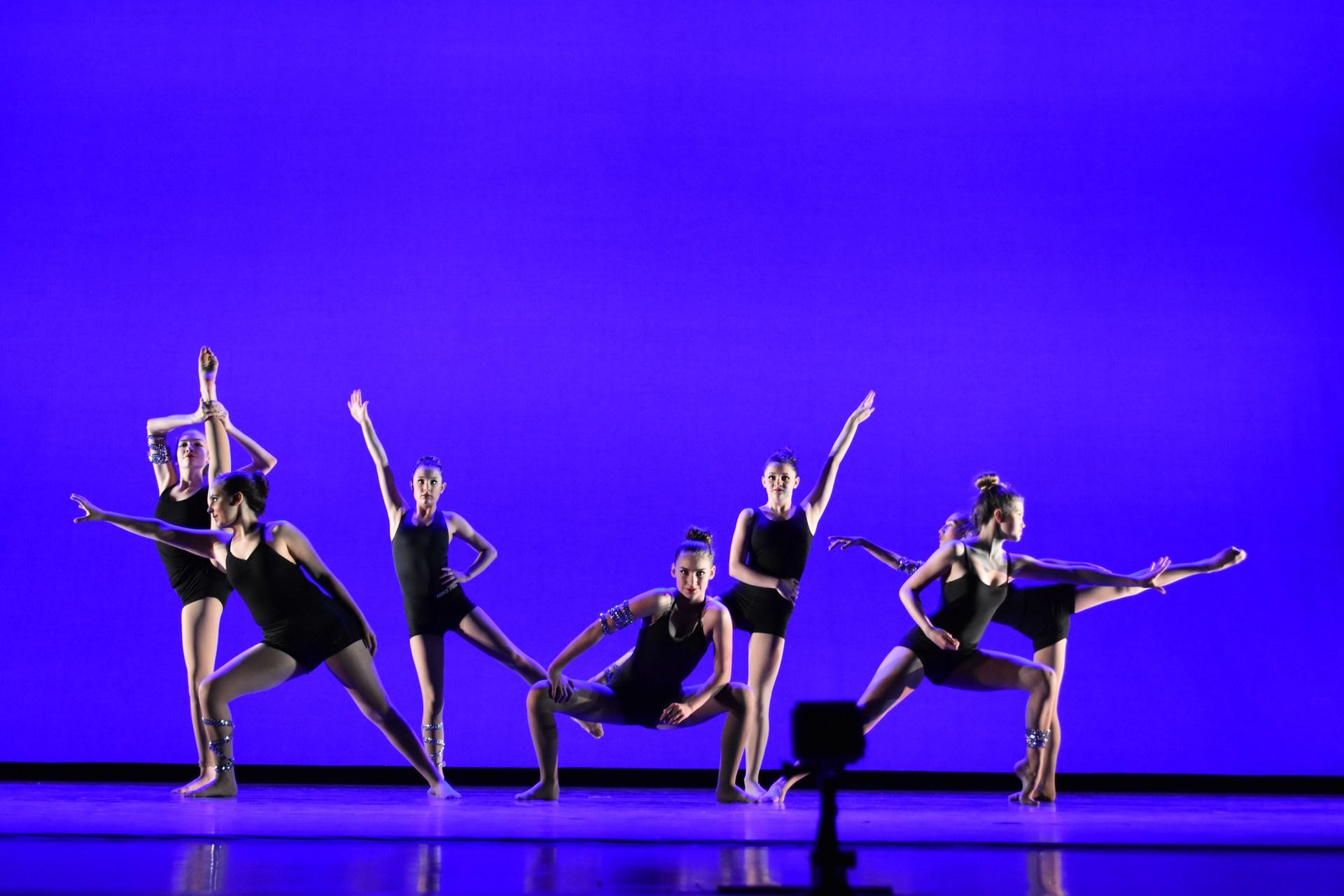 dance with blue blackground