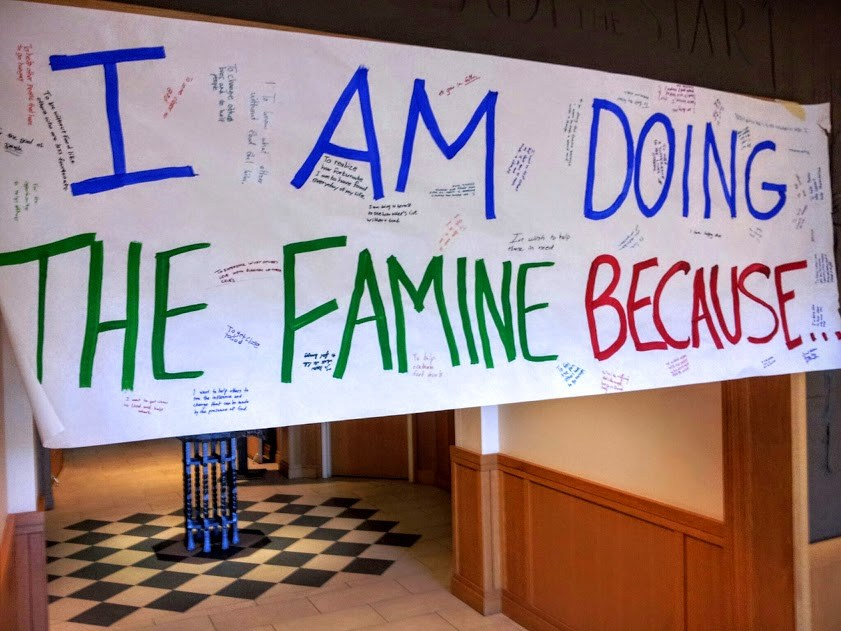 30 Hour Famine sign