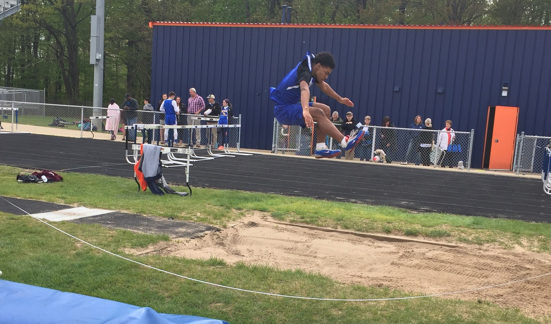 Student Long Jumping