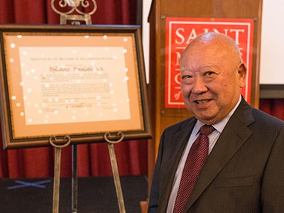 Cathedral Alumni, Ted Tsukahara '58 honored with Christian Brothers Affiliation Thumbnail Image