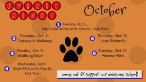 October Spirit Nights