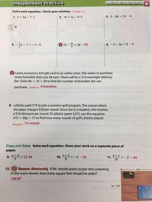 California Math Course 1 Volume 2
