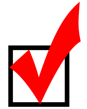 Red Checkmark in Box