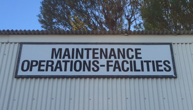Maintenance, Operations & Facilities sign