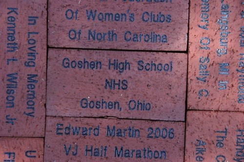NHS brick at Victory Junction Gang Camp