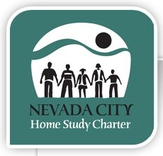 Nevada City Home Study Logo, Black Outlines of People Holding Hands