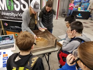 Students doing science activity