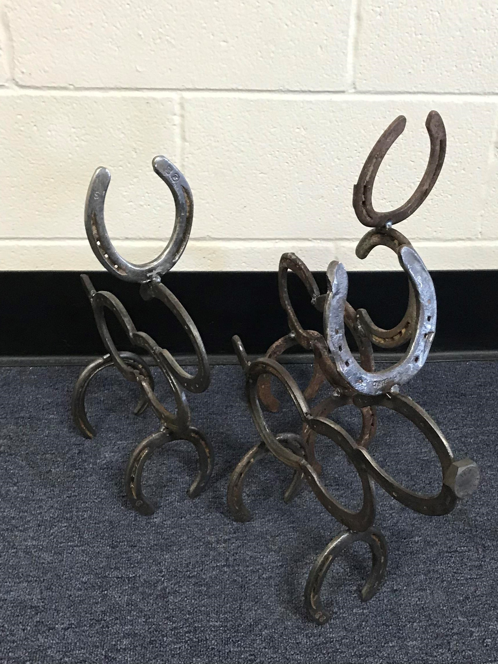 reindeer made from horseshoes