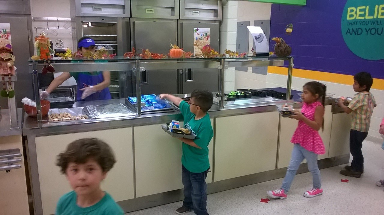 Children at the Serving Line