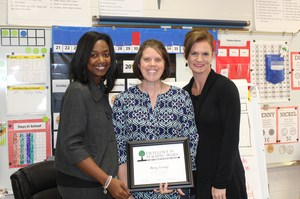 First grade teacher Sherri Coarsey was tapped by the Foundation for Educational Excellence this morning.
