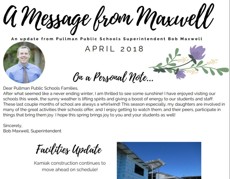 A Message from Maxwell - April 2018 Thumbnail Image