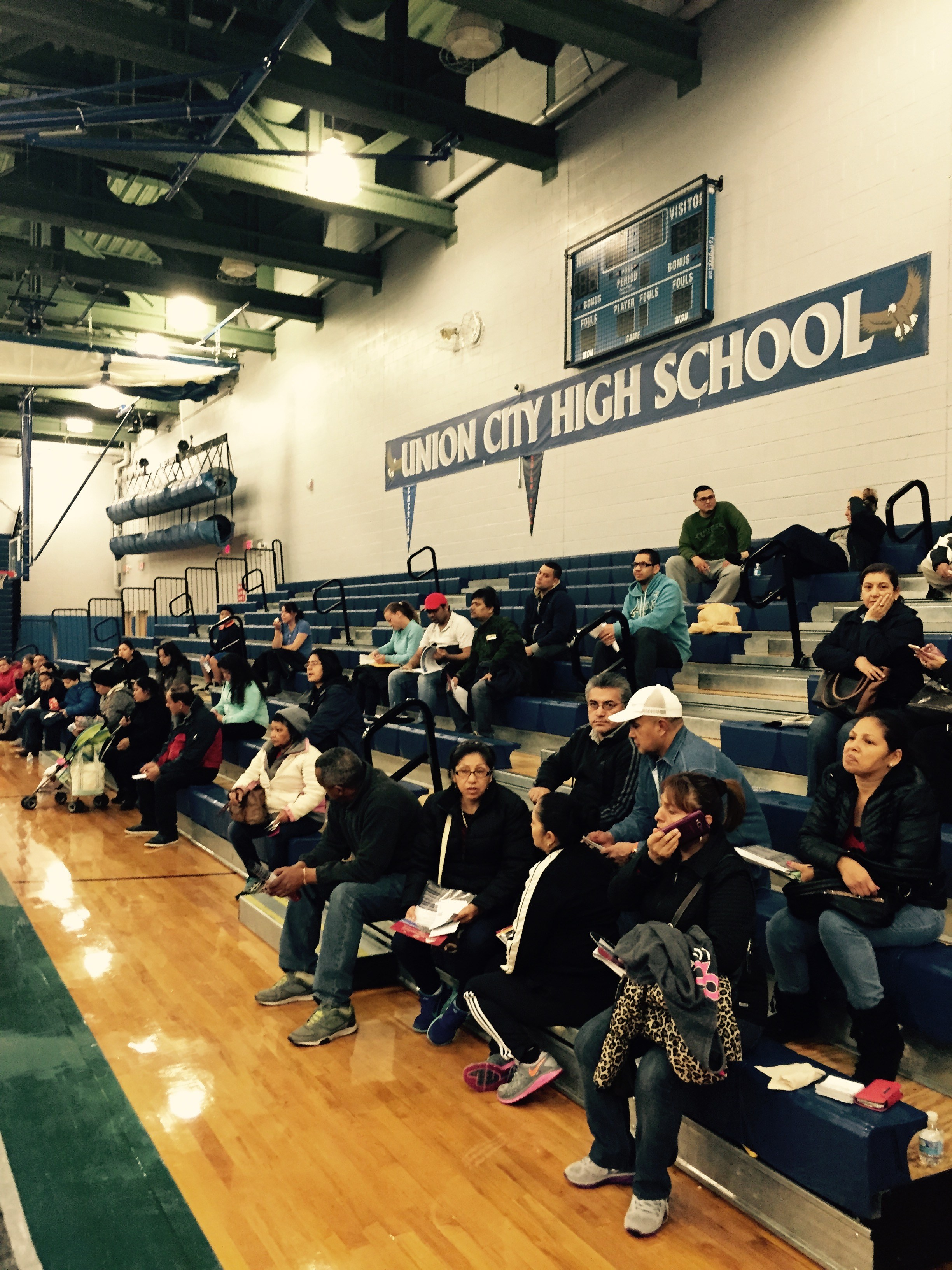 Parents sitting at the Union City Health Fair
