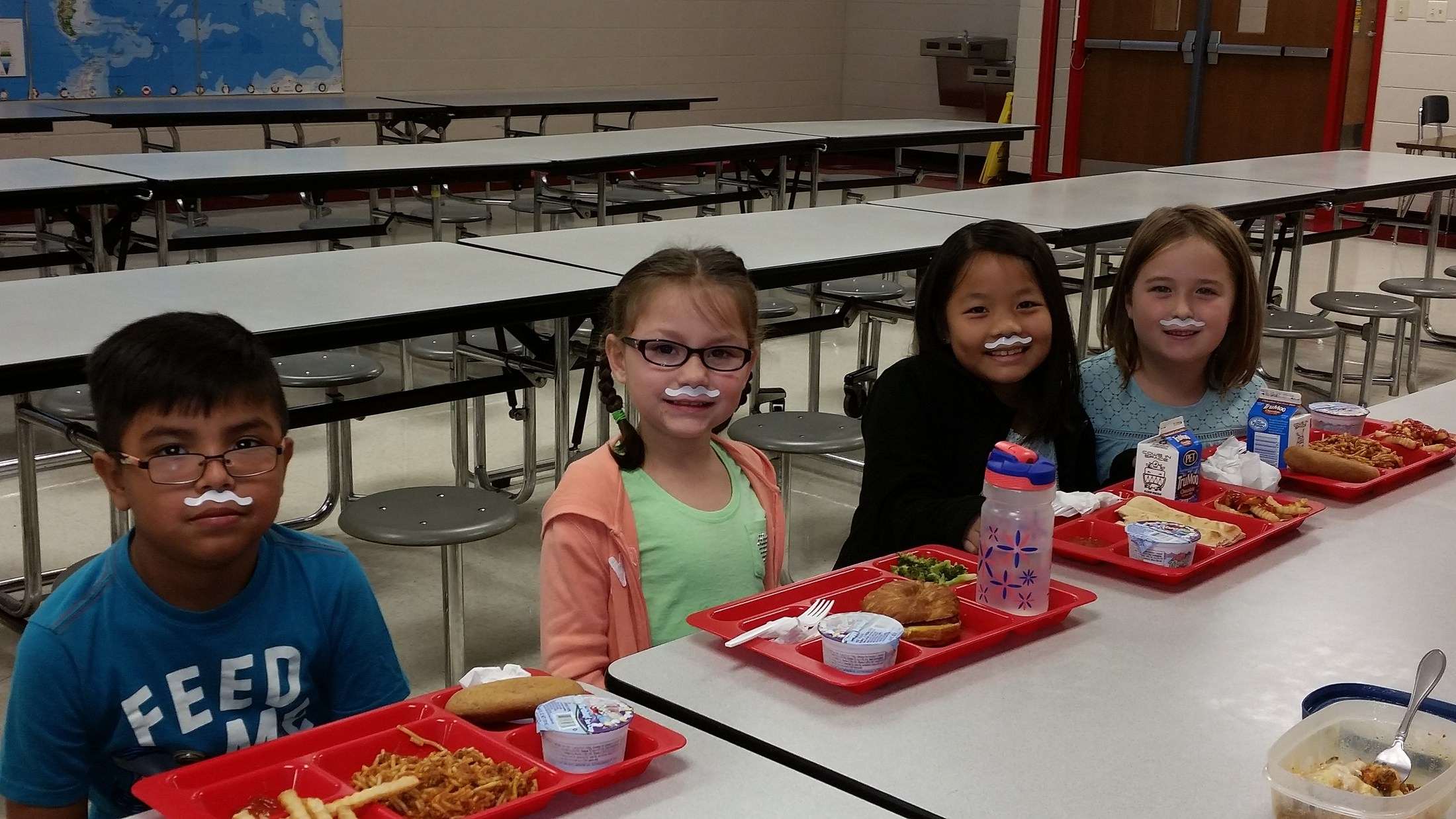 Students with their Milk Stache