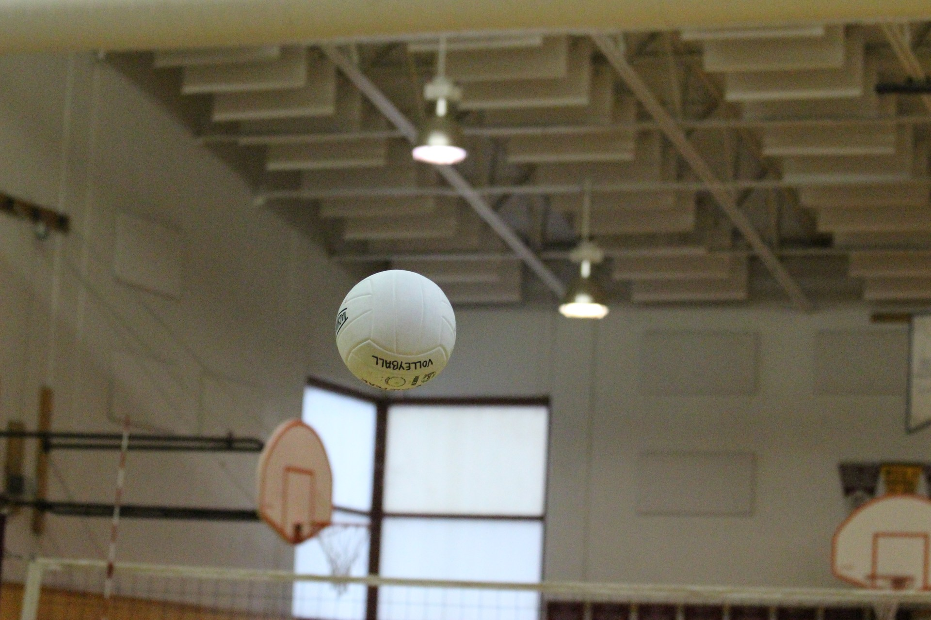 Picture of a volleyball in the air