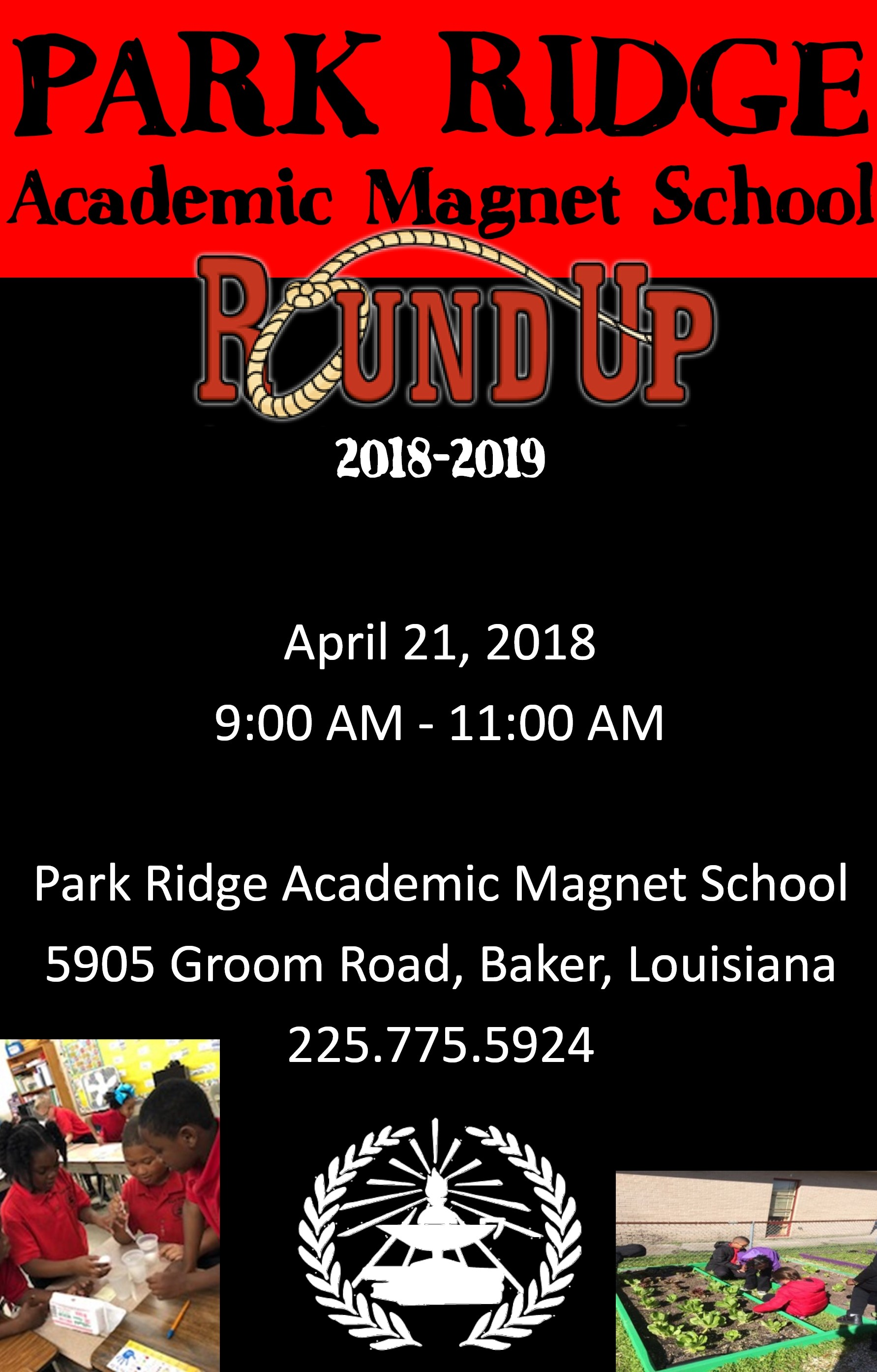 Photo of a flyer advertising the Park Ridge 2018-19 Round Up