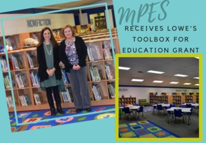 MPES Principal and Media Specialist in Newly Remodeled Media Center
