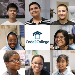 Manor High School students that are in the Code2College program