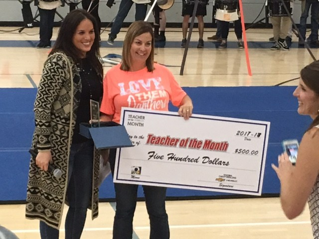 Mrs. Burkhalters named by KTEN as Teacher of the Month! Thumbnail Image
