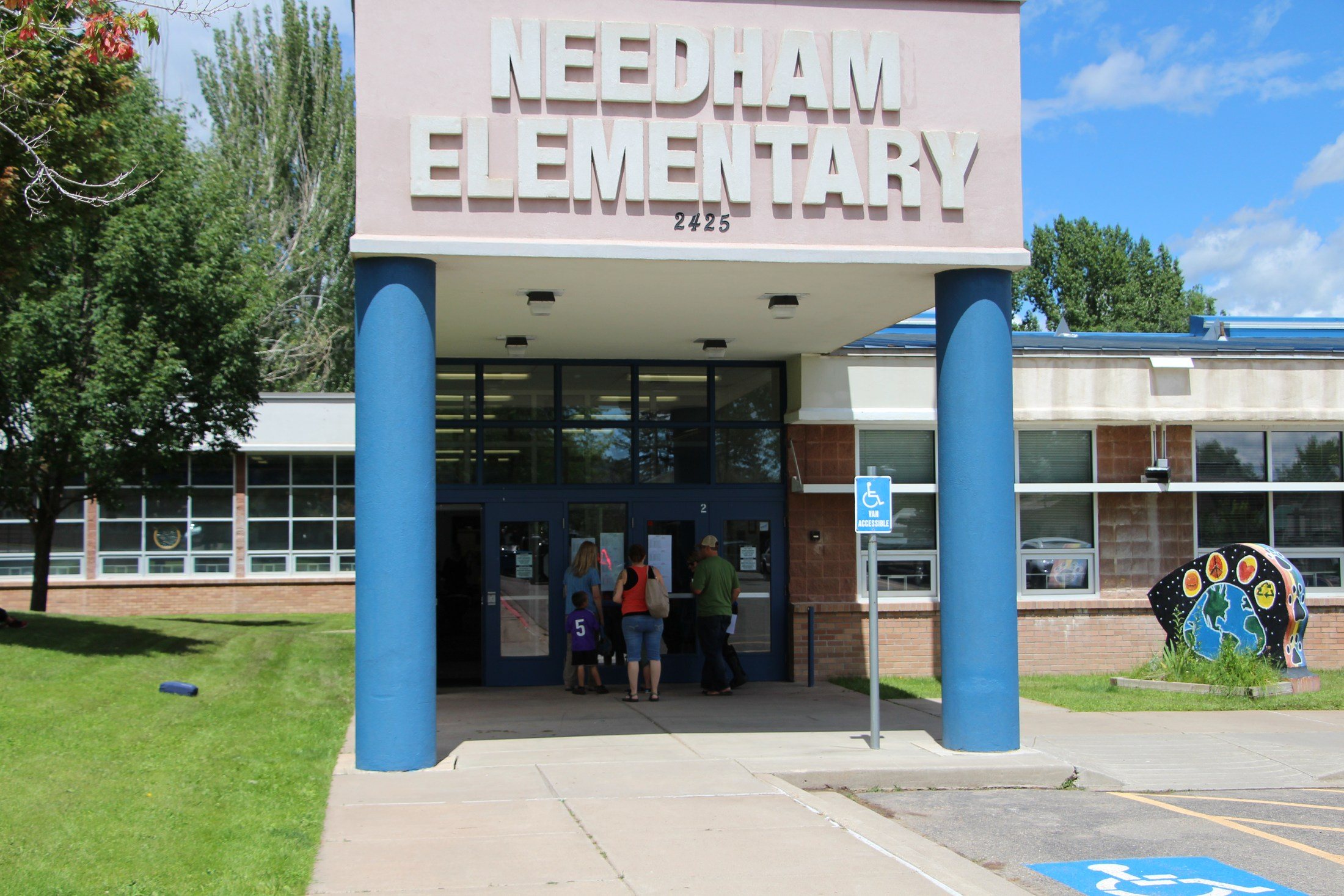 Front of Needham Elementary.