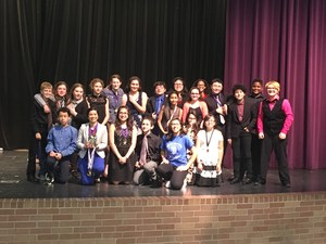 Theatre students from Manor New Tech Middle School earning first place.